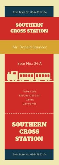 Retro Train Ticket Template