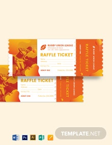 Rugby Raffle Ticket Template