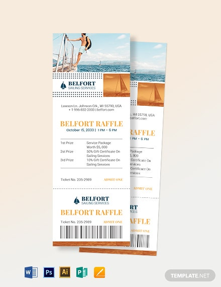 Sailing Raffle Ticket Template