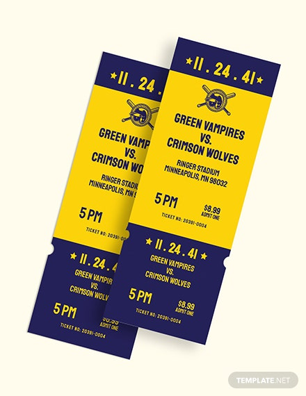 Save The Date Baseball Ticket Download