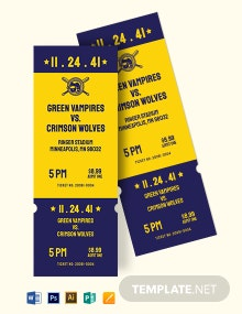 Save The Date Baseball Ticket Template