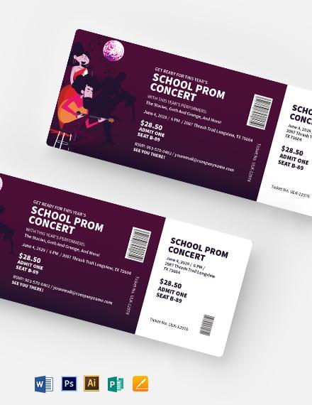 School Concert Ticket Template
