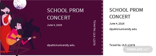 School Concert Ticket Template