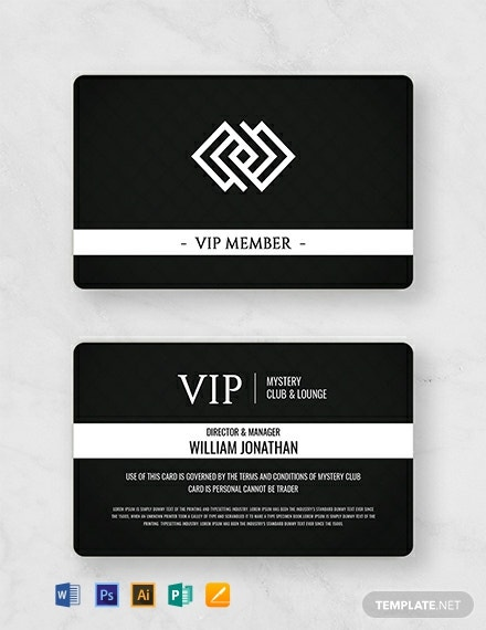 Free Club Member Card Template