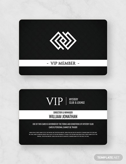 Free Club Member Card Template