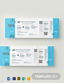 Cruise Travel Ticket Template