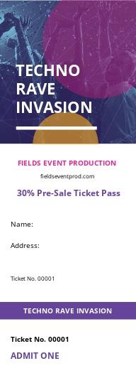 Festival Sale Ticket Template