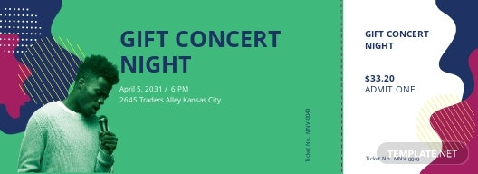 Gift Concert Ticket Template