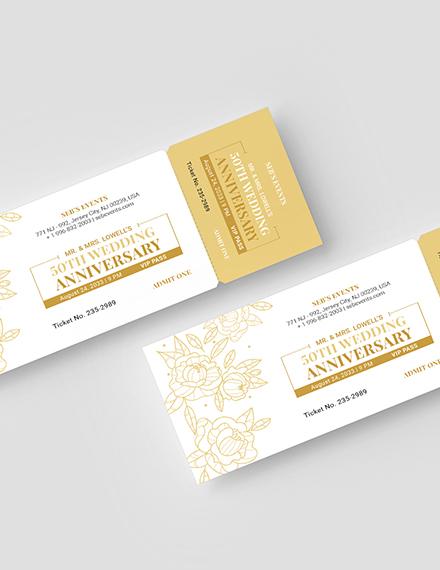 Sample Golden VIP Ticket