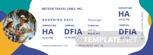 Holiday Travel Ticket Template