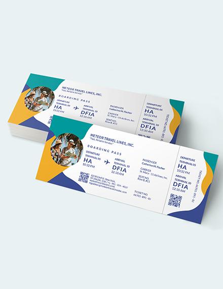 Sample Holiday Travel Ticket