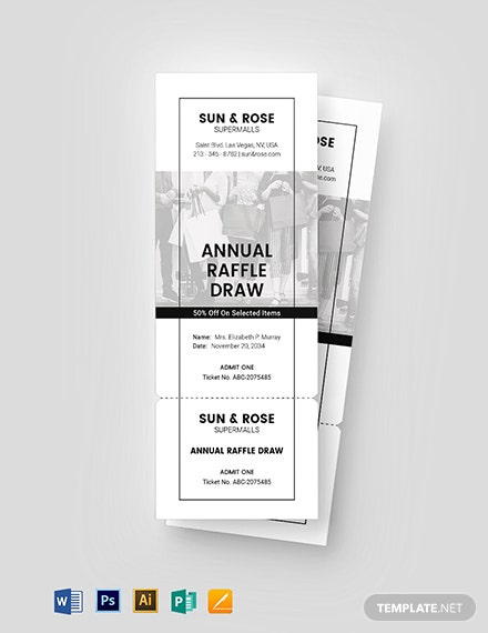 Raffle Sale Ticket Template