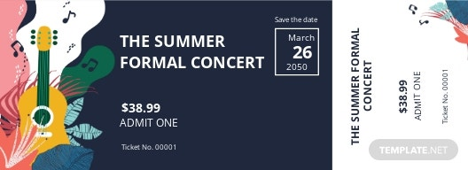 Save The Date Concert Ticket Template.jpe
