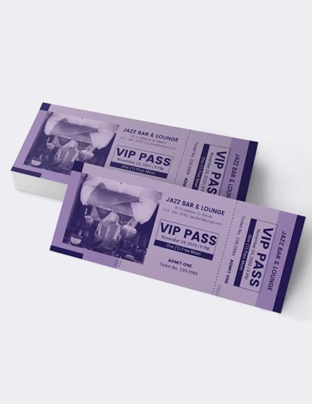 Sample Simple VIP Ticket
