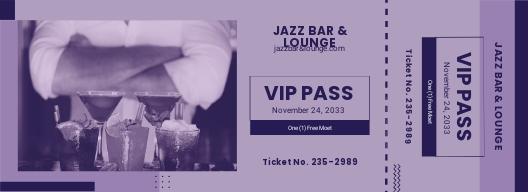 Simple VIP Ticket Template