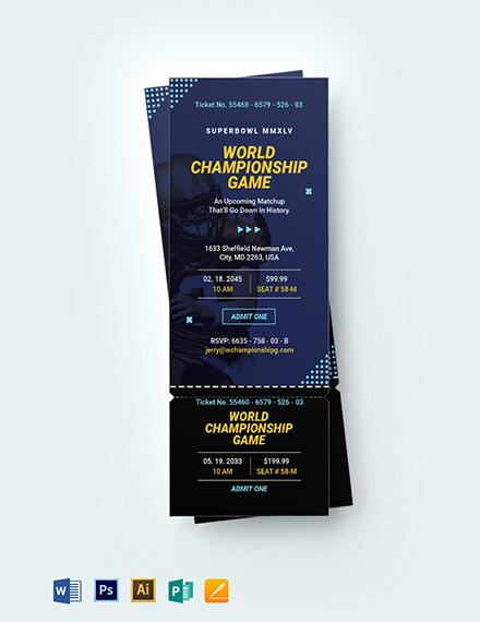 Super Bowl Ticket Invitation Template