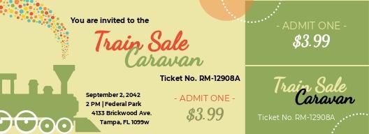 Train Ticket  Invitation Template