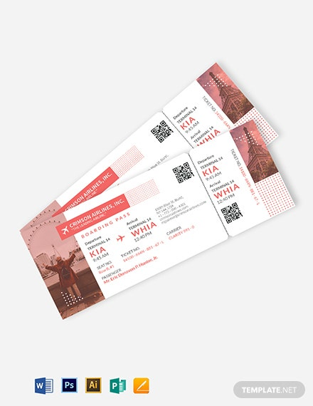Tour Ticket Template
