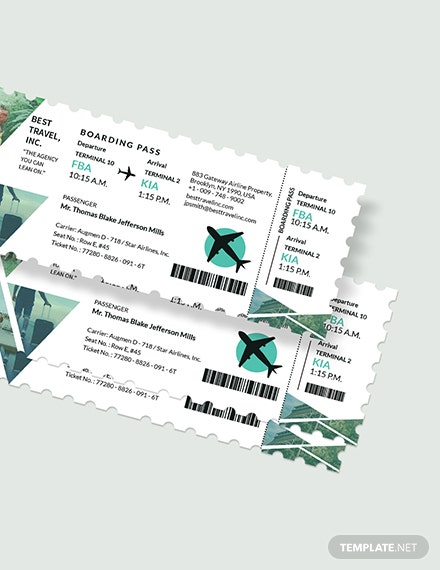Sample Travel Agency Ticket