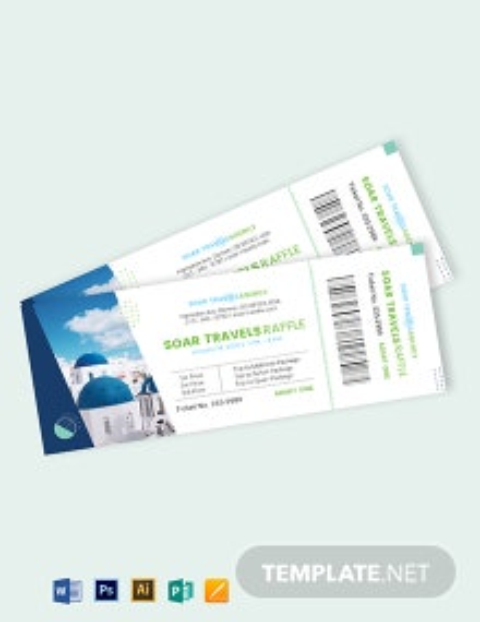 Travel Raffle Ticket Template