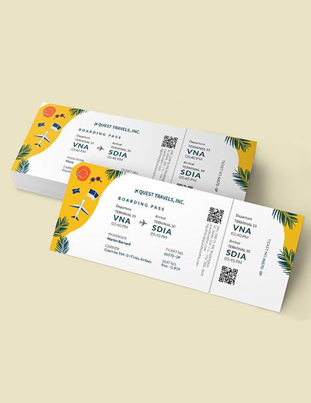 Sample Travel Trip Ticket