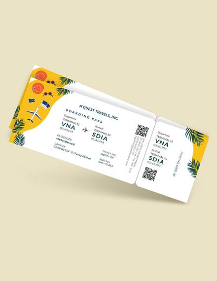 Travel Trip Ticket Download