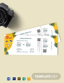 Travel Trip Ticket Template