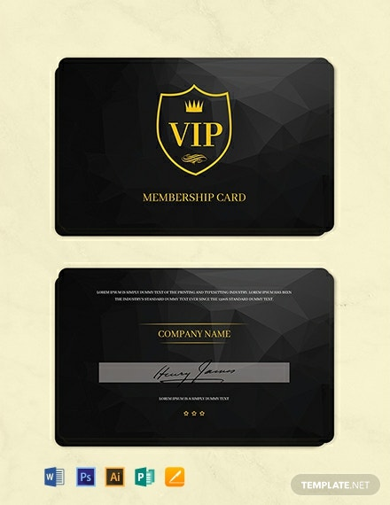 Free Club Membership Card Template