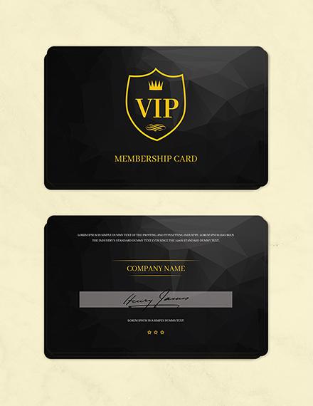 Free Club Membership Card Template