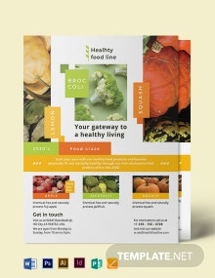 Health Nutrition Flyer Template