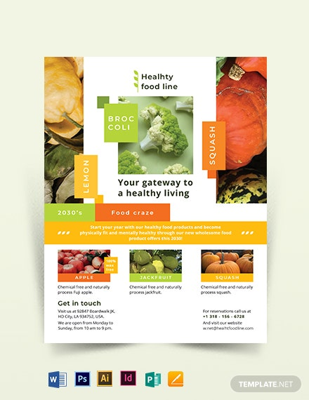 health nutrition flyer