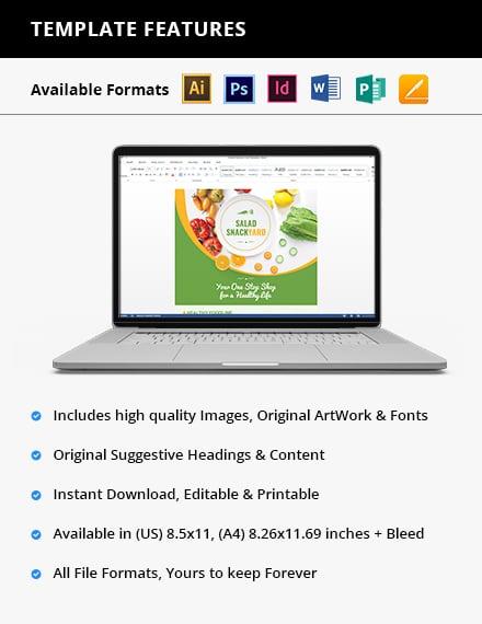 Healthy Food Diet Flyer Printable