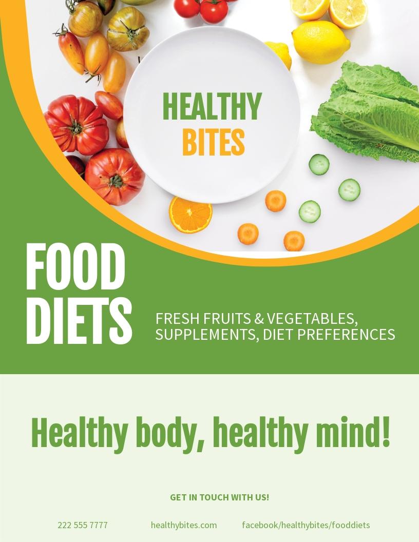 Healthy Food Diet Flyer Template