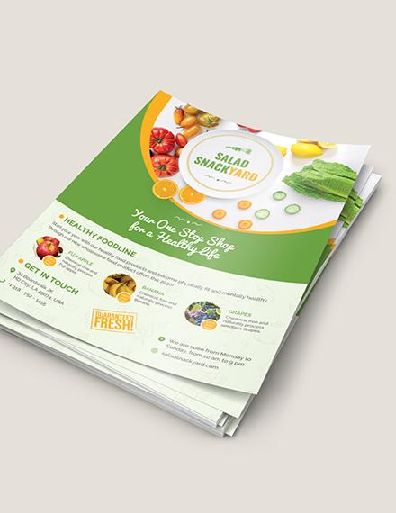 Sample Healthy Food Diet Flyer