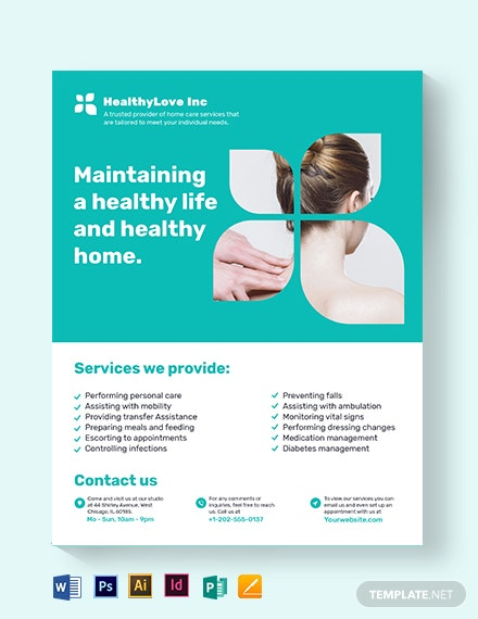 home healthcare flyer template 1