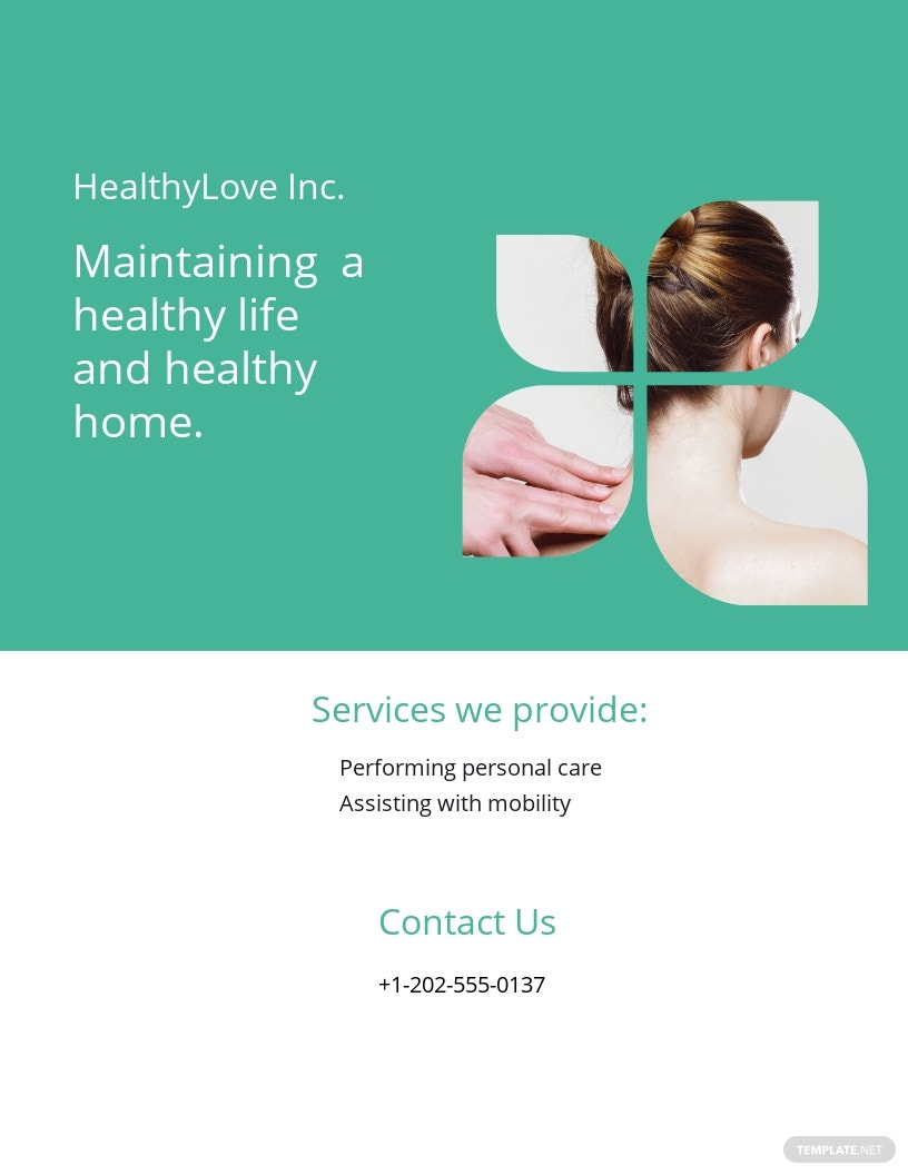 Home Healthcare Flyer Template