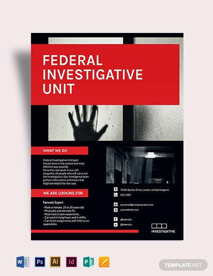 Investigator Flyer Template