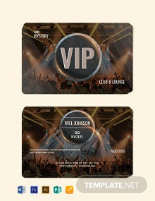 Free Club VIP Membership Card Template