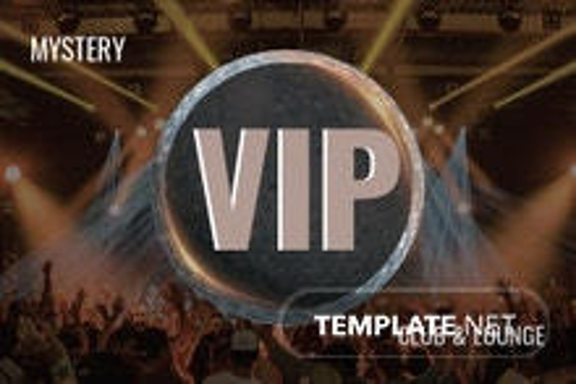 Free Club VIP Membership Card Template