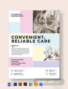 Nursing Home Care Flyer Template