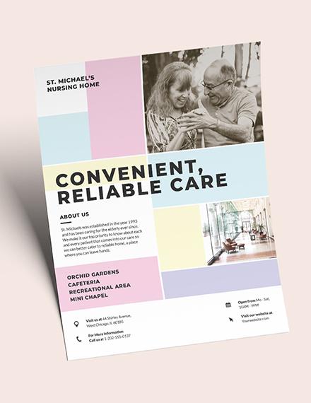 Nursing Home Care Flyer Download
