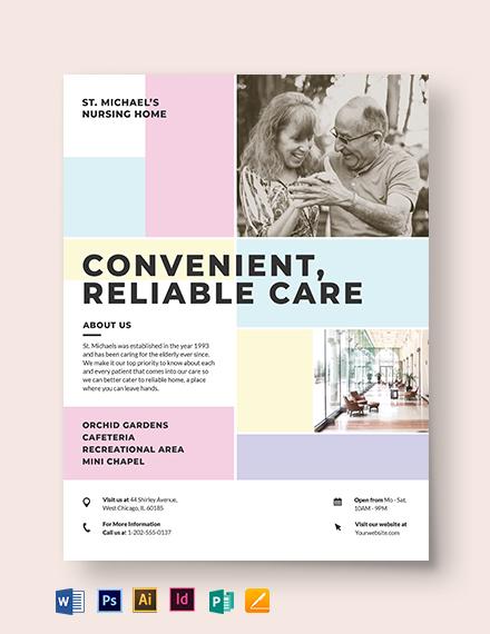 Nursing Home Care Flyer Template