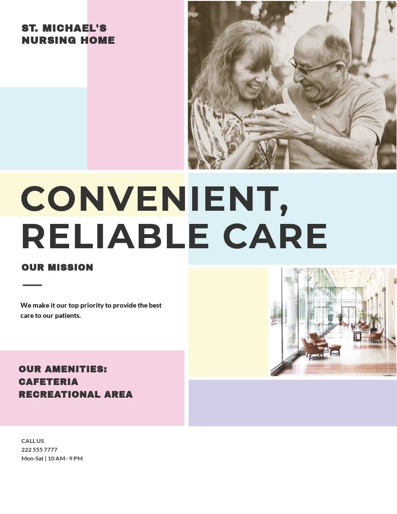 Nursing Home Care Flyer Template.jpe