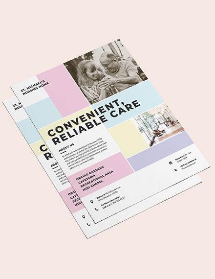 Sample Nursing Home Care Flyer