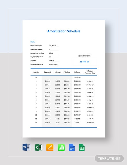 Simple Amortization Schedule Template