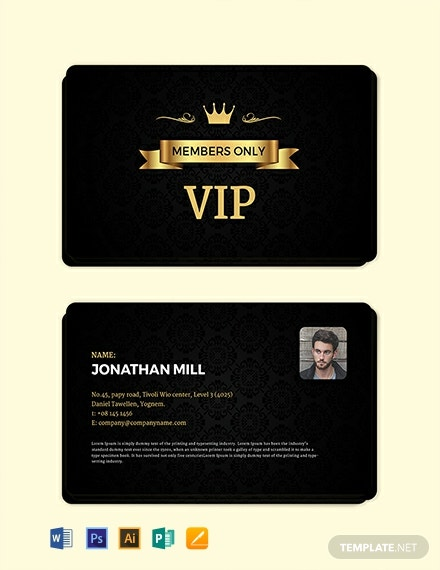 Free Fan Club Membership Card Template