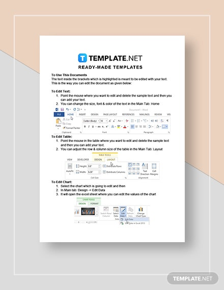 Printable Hotel Receipt Instructions
