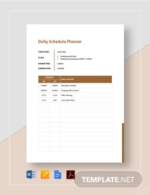 Daily Schedule Planner Template