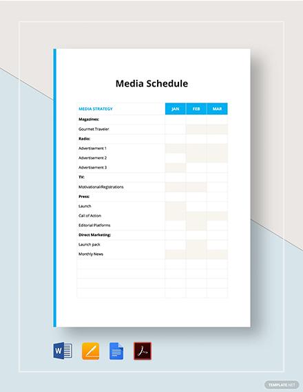 media schedule 2