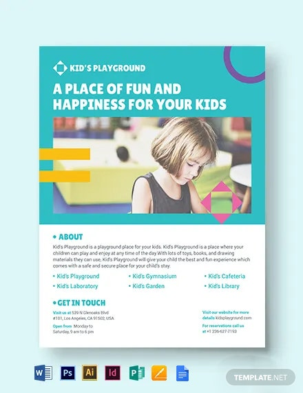 Play School Flyer Template